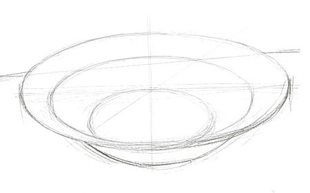 How to draw a plate  step-by-step
